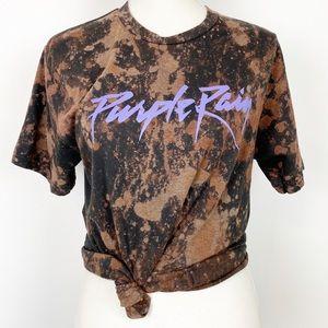 Prince Purple Rain Bleached Graphic Tee M
